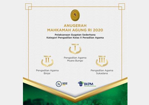 ANUGERAH MAHKAMAH AGUNG RI 2020